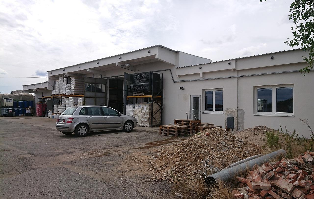 Přestavba areálu pro výrobu stavební chemie